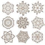 Uppsättning av mandalas Etniska dekorativa beståndsdelar Islam arabiska, Indi Royaltyfri Fotografi
