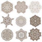 Uppsättning av mandalas Etniska dekorativa beståndsdelar Islam arabiska, Indi Fotografering för Bildbyråer