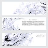 Uppsättning av marmorbanret Royaltyfria Bilder
