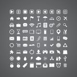 Uppsättning av massmediasymboler Arkivbild