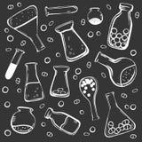 Uppsättning av medicinska flaskor stock illustrationer