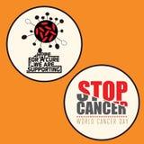 Uppsättning av medvetenhetemblemet för 2 cancer royaltyfri illustrationer