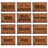 Uppsättning av menytillträden Fotografering för Bildbyråer