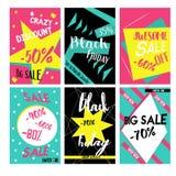 Uppsättning av mobila baner för online-shopping Massmedia för den vektorillustrationwebsiten och samkvämmen, affischer, emailinfo Fotografering för Bildbyråer