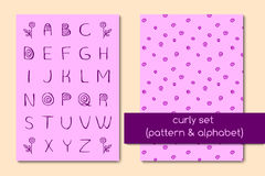 Uppsättning av modellen och alfabetet Royaltyfri Bild