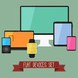 Uppsättning av moderna apparater för affär UI stock illustrationer