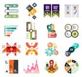 Uppsättning av moderna infographic designmallar Arkivbilder