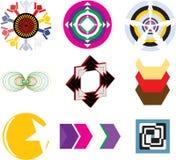 Uppsättning av moderna logoer på vit bakgrund Royaltyfri Foto