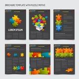 Uppsättning av moderna mallar för broschyrreklambladdesign Royaltyfri Foto
