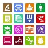 Uppsättning av moderna plana symboler för designbegrepp för rengöringsduken eller mobilen app royaltyfri foto