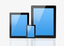 Uppsättning av moderna Smartphone & anteckningsboken Arkivbild