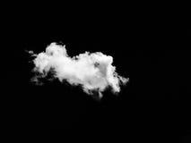 Uppsättning av moln över svart bakgrund bakgrundsdesignelement fyra vita snowflakes Vit isolerade moln Utklipp utdragna moln Royaltyfria Foton
