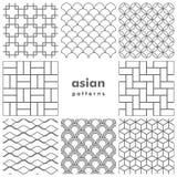 Uppsättning av monokromma asiatiska modeller Arkivbild