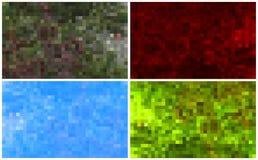 Uppsättning av mosaikbakgrunder Royaltyfria Bilder