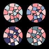 Uppsättning av mosaikbakgrunder Arkivbild