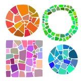Uppsättning av mosaikbeståndsdelar Royaltyfri Foto