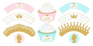 Uppsättning av muffinomslag för parti Royaltyfri Foto