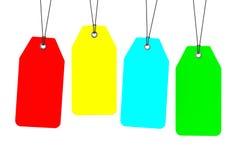 Uppsättning av Multicolour tomma etiketter royaltyfri illustrationer