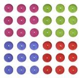 Uppsättning av multipelrundastearinljus stock illustrationer