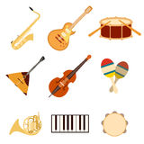 Uppsättning av musik icons3 Fotografering för Bildbyråer