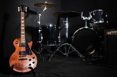 Uppsättning av musikinstrument Fotografering för Bildbyråer
