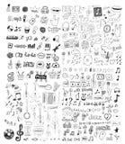 Uppsättning av musiksymboler Arkivfoto
