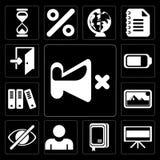 Uppsättning av mutan, television, anteckningsbok, användare, skinn, foto, arkiv, royaltyfri illustrationer