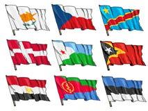 Uppsättning av nationsflaggor Arkivfoton