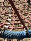 Uppsättning av netto krypandekonstruktioner på ungelekplats Royaltyfria Foton