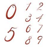 Uppsättning av nummer 3d från 0 till 9 vektor illustrationer