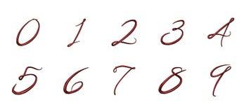 Uppsättning av nummer 3d från 0 till 9 stock illustrationer