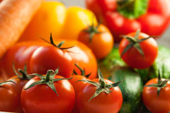Uppsättning av nya grönsaker Arkivbild