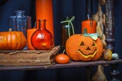 Uppsättning av objekt som firar halloween Royaltyfri Fotografi