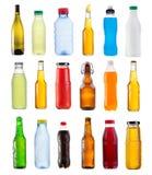 Uppsättning av olika flaskor Royaltyfri Bild
