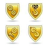 Uppsättning av olika industriella symboler Royaltyfria Bilder