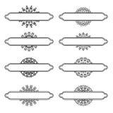 Uppsättning av olika krusidullar royaltyfri illustrationer