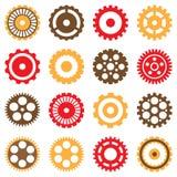 Uppsättning av olika mekaniska kugghjul Royaltyfria Foton