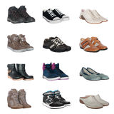 Uppsättning av olika skor Arkivbilder