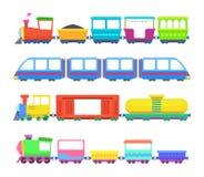 Uppsättning av olika ungedrev Vektorlekar för barn vektor illustrationer