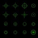 Uppsättning av olika vektorcrosshairs Arkivbilder