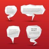 Uppsättning av origamianförandebubblor royaltyfri illustrationer