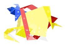 Uppsättning av pappers- baner för origami. Vektorbakgrund Royaltyfri Fotografi