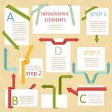 Uppsättning av pappers- enheter för information-graphick Royaltyfria Foton