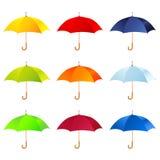 Uppsättning av paraplyer Royaltyfri Illustrationer
