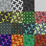 Uppsättning av patternes för medurs textur för tegelstenspiraltegelplatta sömlösa Royaltyfri Illustrationer