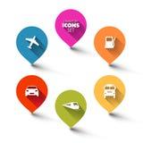 Uppsättning av pekare för rundalägenhettransport Fotografering för Bildbyråer