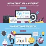 Uppsättning av plana designstilbegrepp för affär och marknadsföring vektor illustrationer
