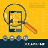 Uppsättning av plana designsymboler för smartphone royaltyfri illustrationer