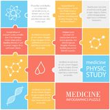 Uppsättning av plana medicinska symboler Fotografering för Bildbyråer