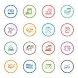 Uppsättning av plana symboler för affär och för marknadsföring Arkivfoton